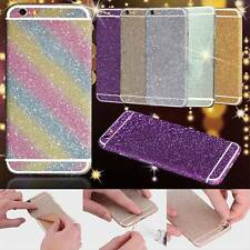 Glitter Full Body Skin Decal Bling Sticker for iPhone 6 6s Plus 5s SE 7 7 Plus