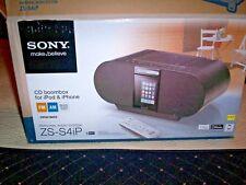 Sony ZS-S4iP 30-Pin iPhone/ iPod Portable CD Radio Boombox Speaker Dock W/Box