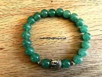 Aventurine Natural Gemstone Bead 8 mm Bracelet Healing Heart Chakra Elasticated