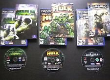 LOT 3 JEUX Sony PLAYSTATION 2 PS2 : THE HULK (Marvel COMPLET envoi suivi)