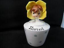 Lipper & Mann Anthropomorphic Mustard Flower Girl Condiment Jar