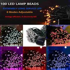 100 LED Solar String Lights Patio Party Yard Garden Wedding Waterproof Outdoor