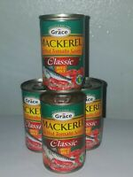 GRACE MACKEREL HOT & SPICY(AUTHENTIC MACKEREL FROM JAMAICA ) 4 TINS 5.5 OZ EA.