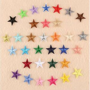 Star Colorful Stars Iron-On Patch Embroidered Badge Kids Motif Clothes Sticker