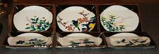 6 Vintage Asian Hand-Painted Marked Square Sushi? Plates