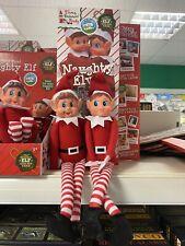 "The Naughty Christmas Elves Behavin' Badly On Display 12"" Boy / Girl Shelf Prop"