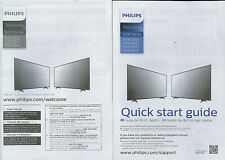 Philips 5000 Series Television TV Original Factory Owner's Manual & Quick Start