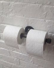 UK HANDMADE Double Toilet Roll Holder ***STEAMPUNK **INDUSTRIAL **SHABBY-CHIC