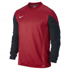 NIKE Mens Squad 14 Waterproof Shell Pullover Top Football Soccer Red Black Large