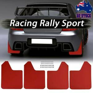 4pcs W/Clips Wide Racing Rally Mud Flaps Guard Car Performance Febders Universal