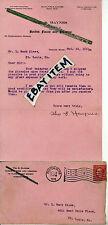 1911 William S. Haynes FLUTE PICCOLO BOSTON Massachusetts SIGNED LETTERHEAD etc