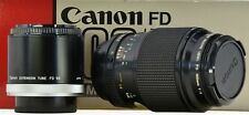 CANON FD 100mm f4 Macro + FD 50 Extension Tube - Boxed -