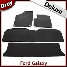 Ford Galaxy 1999 2000...2006 Tailored LUXURY 1300g Car Mats 4 Clip GREY (Round)