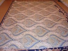 Abstract Multi-Color Leaf Pattern Quilt