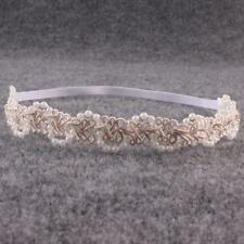 Girls Pearl Hair Band Lace Party Kids Headwear Baby Head Wrap Band Headband