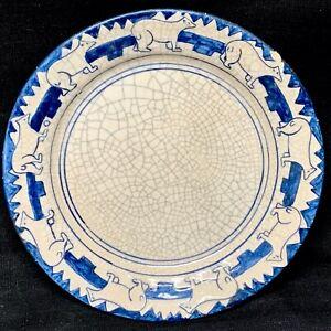 Decorated Maude Davenport DEDHAM Polar Bears Plate c1910