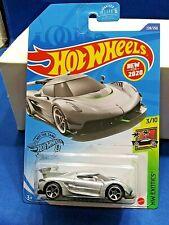 2020 Hot Wheels 2020 Koenigsegg Jesko HW Exotics #3/10 Silver Die-Cast Must See
