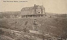 1913 Odd Fellows Home, Ludlow, Vermont, New Construction Hartman & Co. Postcard
