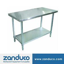 "Zanduco Stainless Steel 30"" X 48"" Commercial Prep Standard Worktable NSF"