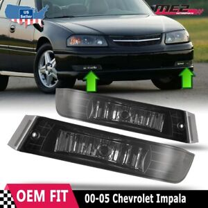 For Chevrolet Impala 00-05 Factory Bumper Replacement Fit Fog Lights Clear Lens
