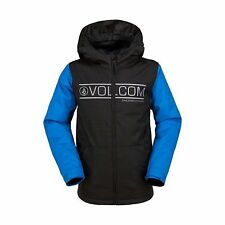d4f22ff99 2017 NWT YOUTH BOYS VOLCOM SEKIRK INSULATED SNOWBOARDING JACKET $120 M cyan  blue
