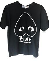 Play comme des garcons Black T-Shirt Top M