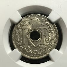 NGC MS63 1938 FRANCE 25 CENTIMES BRILLIANT UNCIRCULATED CERTIFIED