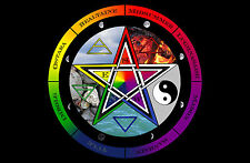 Framed Print - Wicca Pentagram (Picture Poster Art Wiccan Nature Magic Witch)