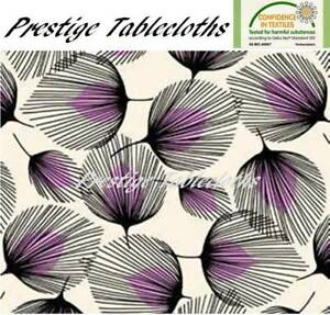 Whisper Feather PVC Vinyl Wipe Clean Tablecloth - ALL SIZES - Code: F726-2