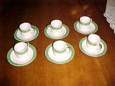VINTAGE DEMITASSE COFFEE CUPS & SAUCERS SET OF 6 MADE IN JAPAN