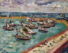 Louis Valtat Port In Bessin Canvas Print 16 x 20    #9885