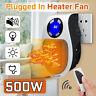 Portable Mini Electric Plug-In Wall Heater Handy Room Blower Fan Radiator 500w H