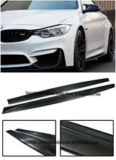 M Performance Style Carbon Fiber Side Skirts Extension Lip For 15-Up BMW F82 M4