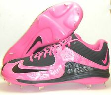 New Nike Air MVP Pro 2 Metal Baseball Cleats Sz 11.5 Pink Black Mother's Day BCA