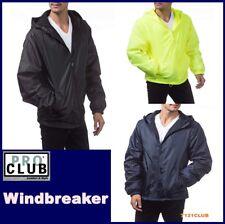 PRO CLUB WINDBREAKER MENS LIGHTWEIGHT WATERPROOF HOODED RAIN JACKET BIG AND TALL