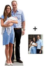 bebé Real! Príncipe George, William & Kate Middleton Silueta de cartón Vertical