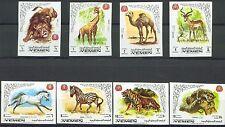 Königreich Jemen MiNr 772B-779B Internationales Tierschutzjahr (II) -Tiger u.a.-