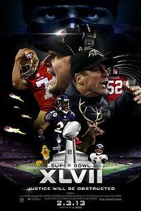 Super Bowl 2013 Poster, 7x10 Color Photo