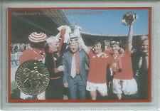 Manchester united man utd vintage f.a cup final gagnants rétro pièce ensemble cadeau 1977