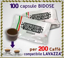 100 capsule BIDOSE = 200 caffè x ECL LAVAZZA POINT ESPRESSO e CAPPUCCINO TOP SEL