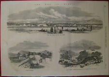 WAR IN PALMAR MEXICO VS FRENCH SCENES 1863 ILLUSTRATED LONDON NEWS
