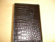 Black Crocodile Print Leather No Logo Passport Holder Cover ALL Country New P99