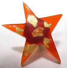 SoHo® Ring Diana Stern Blattgold Kunstharz orange retro resin star gold
