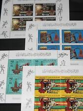 LIBYA LIBYEN 1980 Klb 842-45 767-0 Olympics 1980 Moscow Sport Soccer Javelin MNH