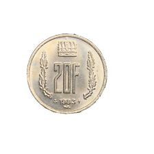1983 Luxembourg 20 Francs 20F Coin KM 58 World Foreign Europe AU Luster