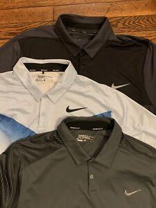 Lot 3 Mens Nike Golf Polo Performance Shirts XL 1 New
