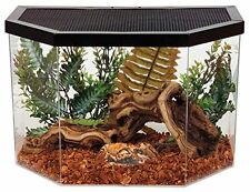Reptile Terrarium Habitat Glass Cage W/ Screen Lizard Turtle Snake 5 Gallon