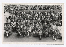PHOTO ANCIENNE Alix Bagnères de Bigorre Groupe Assis Foule Spectateurs Vers 1950