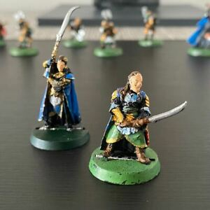 GW Lord Of The Rings Middle Earth Metal Painted Elves Elrond & Gil Galad