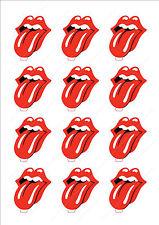 Novedad los Rolling Stones Logo Labios Comestible Pastel Cupcake toppers decorations